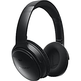 Bose QuietComfort 35 (Series I) Wireless Headphones, Noise Cancelling - Black 9 <p>QuietComfort 35 Wireless Headphones. QuietComfort 35 wireless headphones are engineered with world-class noise cancellation that makes quiet sound quieter and music sound better. Free yourself from wires and connect easily to your devices with Bluetooth and NFC pairing. Volume-optimized EQ gives you balanced audio performance at any volume, while a noise-rejecting dual microphone provides clear calls, even in windy or noisy environments. Voice prompts and intuitive controls make communicating and controlling your music hassle-free. And a lithium-ion battery gives you up to 20 hours of wireless play time per charge. QuietComfort 35 headphones are designed with premium materials that make them lightweight and comfortable for all-day listening. Use the Bose Connect app for a more personalized experience. World-class noise cancellation Bluetooth and NFC pairing Balanced sound at any volume Up to 20-hour battery life per wireless charge Noise-rejecting dual microphone for clear calls Lightweight and comfortable for all-day listening Bose Connect app control QuietComfort 35 wireless headphones are engineered with world-class noise cancellation that makes quiet sound quieter and music sound better Free yourself from wires and connect easily to your devices with Bluetooth and NFC pairing Volume-optimized EQ gives you balanced audio performance at any volume, while a noise-rejecting dual microphone provides clear calls, even in windy or noisy environments Voice prompts and intuitive controls make communicating and controlling your music hassle-free</p>
