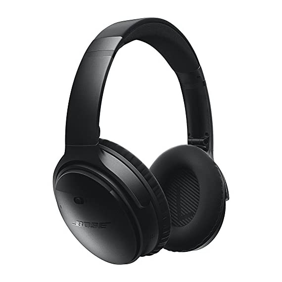 Bose QuietComfort 35 (Series I) Wireless Headphones, Noise Cancelling - Black 1 World-class noise cancellation Bluetooth and NFC pairing Balanced sound at any volume Up to 20-hour battery life per wireless charge Noise-rejecting dual microphone for clear calls Lightweight and comfortable for all-day listening Bose Connect app control QuietComfort 35 wireless headphones are engineered with world-class noise cancellation that makes quiet sound quieter and music sound better Free yourself from wires and connect easily to your devices with Bluetooth and NFC pairing