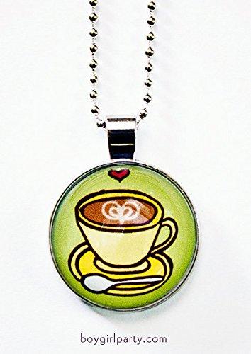 Coffee Jewelry Coffee Necklace Latte Jewelry Cappuccino Necklace Caffeine Necklace Food Jewelry Food Necklace Food Charm
