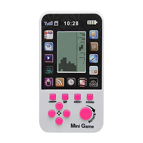 JXD White Kids Console For Children Toy Built-in 23 Games Retro Tetris Game Console Classic Intellectual Toys Handheld