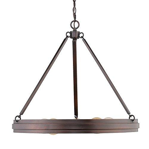 Golden Lighting 7036-5 RBZ Chandelier, Rubbed Bronze ()