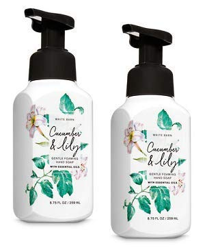 (Bath and Body Works 2 Pack Cucumber and Lily Gentle Foaming Hand Soap 8.75 Oz.)