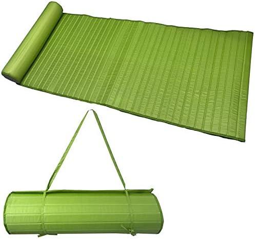 JEMIDI leicht gepolsterte (190g) Strandmatte Schwimmbadmatte 58cm x 180cm wahlweise mit Kissen