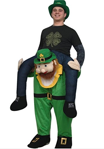 [Carry Me Buddy Ride On A Shoulder Piggy Back Ride Leprechaun Costume Mascot] (St Patrick Day Costumes Plus Size)