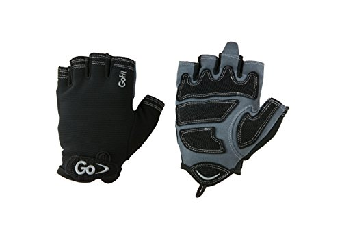 GoFit Xtrainer Cross Training Glove - Synthetic Leather Palm for Men - Large