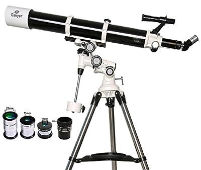 Gskyer EQ 80900 Telescope, German Technology Telescope,Starwatcher Refractors by Gskyer