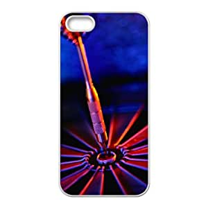iPhone 5,5S Phone Case, With Darts Image On The Back - Colourful Store Designed
