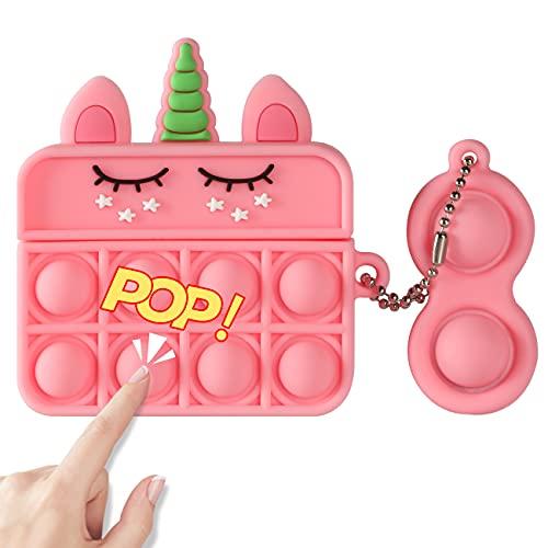 POP IT FUNDA DE SILICONA, P/ AIRPOD PRO CASE/unicornio pink