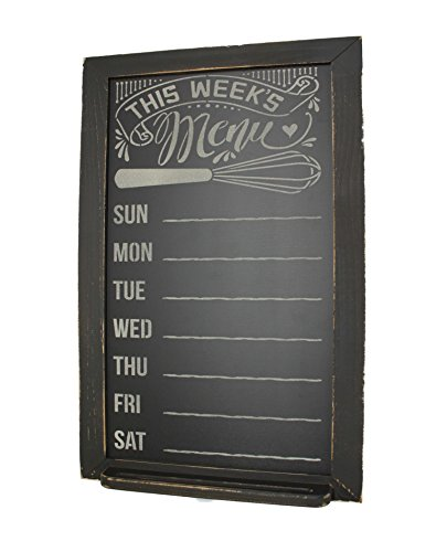 Menu Chalkboard with Distressed Wood Frame