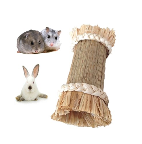 Grass Tunnel for Pets,Hideaway Grass Tunnel Toy for Hamster Guinea Pig,Natural Small Animals Chew Toy