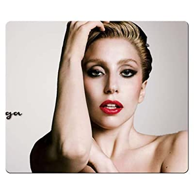 26x21cm 10x8inch personal Mousepad smooth cloth - Environmental rubber Designed for gamers Rectangular Lady Gaga