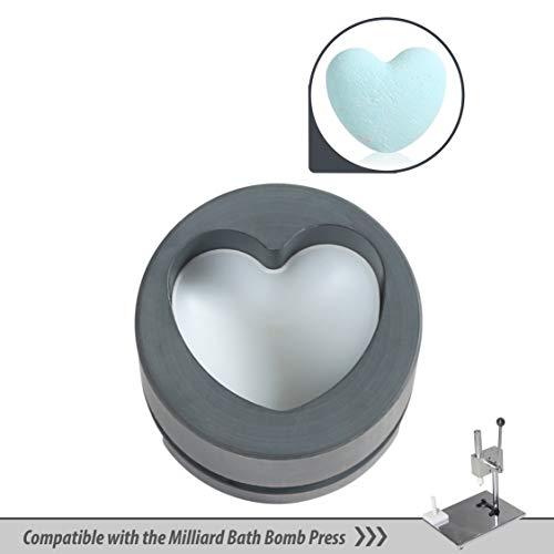 - Milliard Bath Bomb Heart Shape Mold Compatible with The Bath Bomb Press
