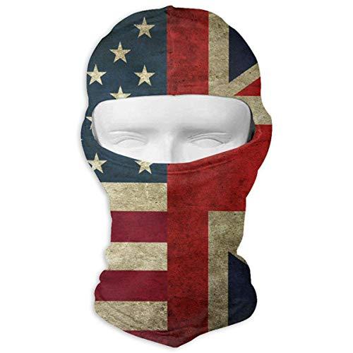 Mcdorty USA UK Flag Winter Hiking Full Face Mask Sun Protection Head Hood for Men and Women ()