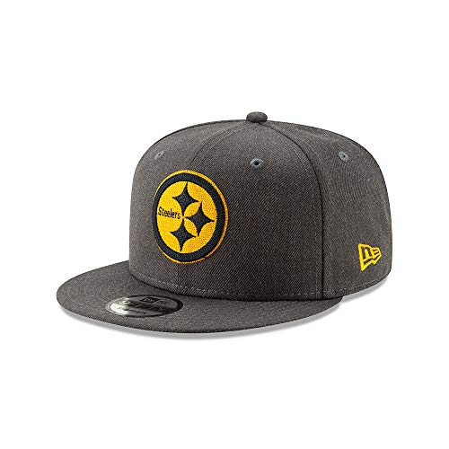 Pittsburgh Steelers Graphite Heather Crisp 9FIFTY Snapback Adjustable Hat/Cap