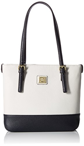 Anne Klein Perfect Tote Small Shopper Ii, Stone-Navy