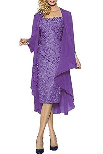 Hochzeitskleid Brautmutterkleid Hochzeit Abendkleid Jacke Spitze Mutter Partykleid Violett CoCogirls Abendkleider mit Ballkleid 5wBHq840x