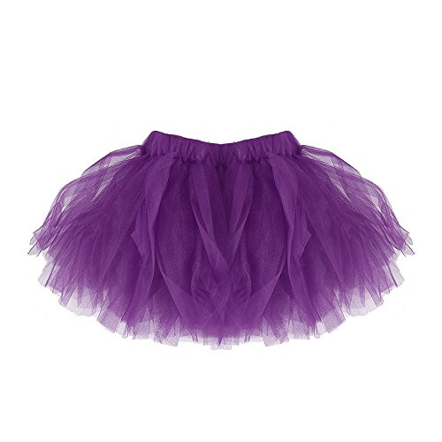 Clearance Sale,Girls and Women Pleated Tutu Skirts Tulle Ballet Skirt Dancewear Dress Costumes Yamally (One Size, Purple (Girls)) -