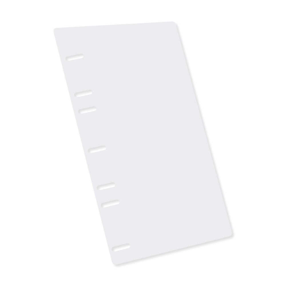 PDC Healthcare 7130 Binder Accessory, Sheet Lifter, 1/2 Page, Side Open, 5 Hole, 5'' x 11'', White (Pack of 2)