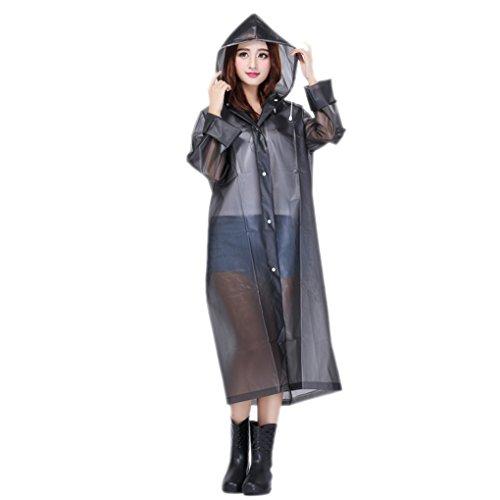 Women Packable Lightweight Transparent Eva Rain Jacket