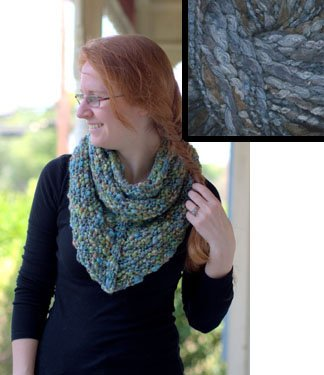 Plymouth EtaBeta yarn Mitered Cowl Knit Kit – BLUES