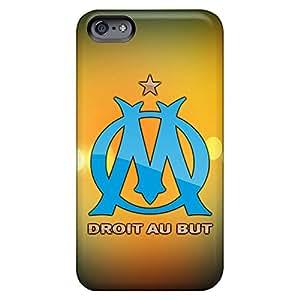iphone 6plus 6p PC mobile phone back case style Impact olympique marseille