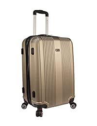 Mancini LABS100-24 24-Inch Spinner Luggage, Champagne, Checked – Medium