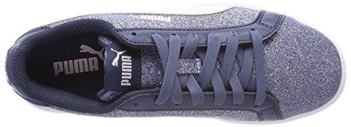 Glamm Puma Smash Jr Pearl Sea Sneaker Kinder Unisex Sargasso Blau Glitz SxwHwBq7O