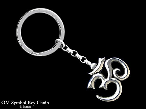 Om Symbol Keychain / Keyring Sterling Silver Handmade by Paxton by Paxton Jewelry