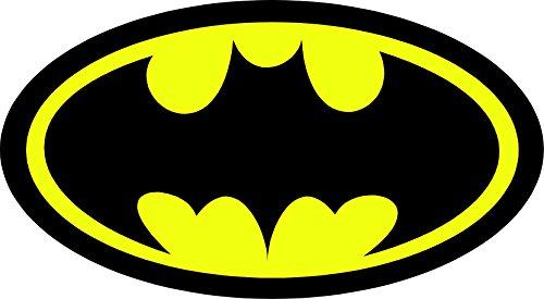 ChicWalls Black & Yellow Batman Logo Sign All Weather 4Season Waterproof Auto Car Hood Window Decal Vinyl Sticker Mural Bumper Sticker 15
