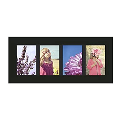 Amazon.com - Adeco Decorative Black Wood Divided Picture Photo Frame ...