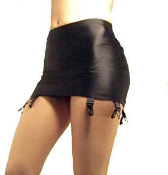 4d644e81dbb Madame Fantasy High Waisted Spandex Pull On Suspender Belt 6 Strap   Amazon.co.uk  Clothing