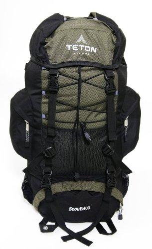 Teton Sports Scout 3400 Internal Frame Backpack (Hunter Green), Outdoor Stuffs