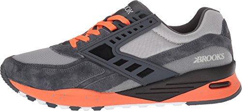Brooks Arv Mens Regent Antracit / Orange Clown Fisk / Slask 7.5 D Oss