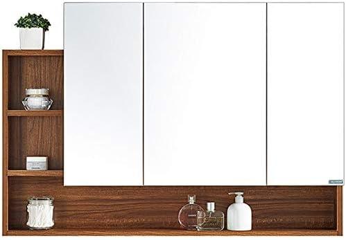 HDZWW 3つの棚ウォールは、バスルームミラードアの洗面化粧台のキャビネット医学胸をマウント (Size : 900mm × 750mm × 135mm)