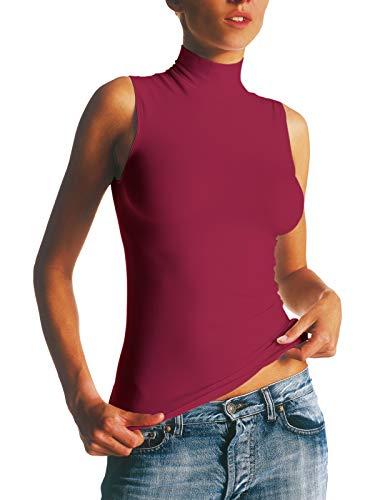 Transpirante Microfibra Seamless Antibacteriana Mujer Sin Alto Camiseta Sensi' Costuras Cuelo Mattone 4q7Y1Y