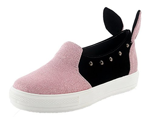 Assorted Pink Pumps Color Women's On WeiPoot Shoes Blend Pull Materials BvXqvA6w