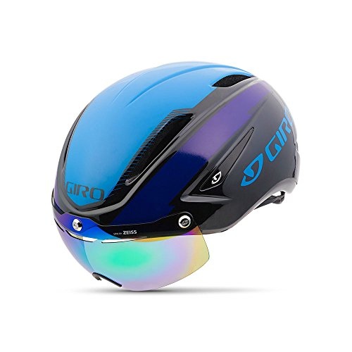 Giro Air Attack Shield Helmet Black/Blue/Purple Black/Blue/Purple - Blue Bicycle Helmet Giro