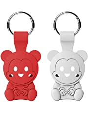 Inowav - [2 Pack] Airtag Case - Protective case / Key Chain Compatible for Air tag 2021 (Cute Bears 2)