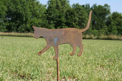 Metal Cat Garden Stake