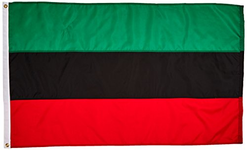Us Flag Store African American Nylon Outdoor Flag, 3-Feet by 5-Feet