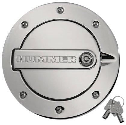 Defenderworx H2PPC08030 Chrome Locking Fuel Door for Hummer (Hummer H3 Fuel Door)