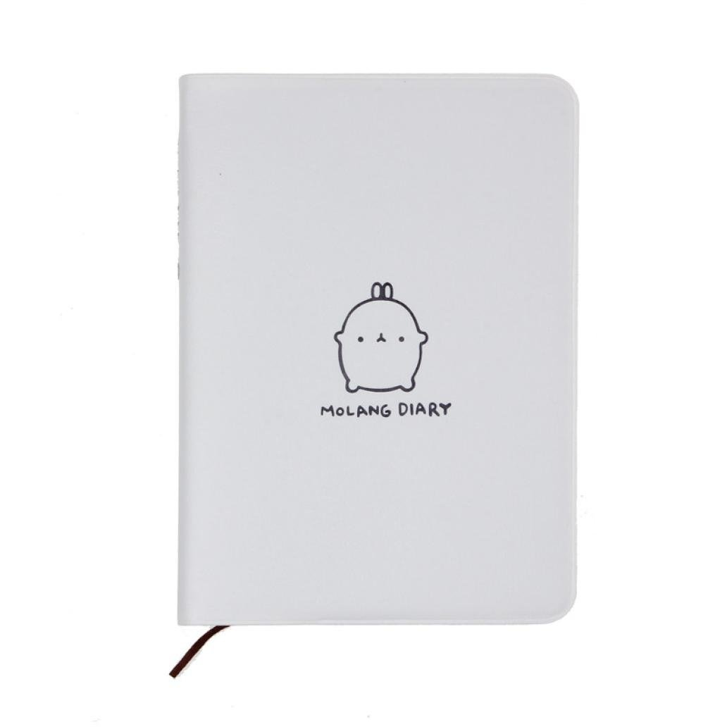 Perman Molang Diary Weekly Planner Agenda Notepad Notebook (White)