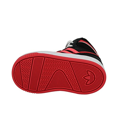 Adidas Originals COURT ATTITUDE EI Schwarz Rot Kinder Sneakers Schuhe Neu