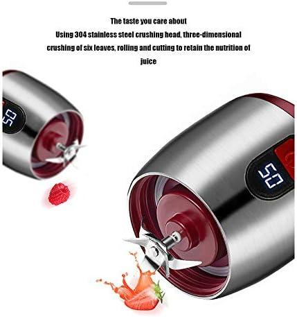 Toda La Pantalla LED Exprimidor Multifunción De Acero Inoxidable Taza De Jugo De Viaje Mini Trituradora De Hielo Portátil Licuadora De Frutas Eléctrica