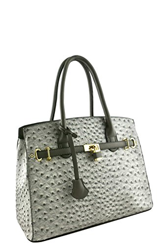 womens-designer-faux-leather-ostrich-padlock-top-handle-bag-va2013-grey