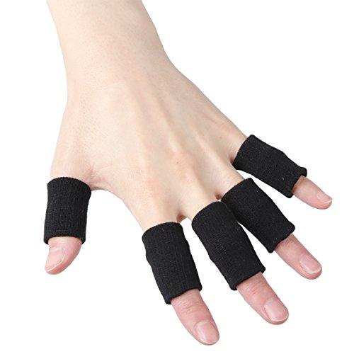 Medi&Story Finger Brace Splint Support Basketball Mallet Joint Protection Injury Dip Arthritis Band Sleeves Pain Jammed 5pcs ()