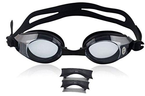 Swimming Goggles Swim Goggles Galvanized PVC Goggles Anti-Fog UV Protection Coated Lens earplug Mens Swimming Goggles for Women Color : Blue Garage & Shop