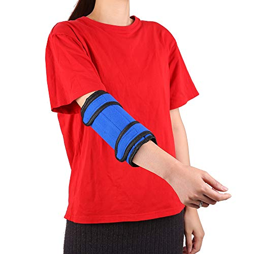 Cubital Tunnel Elbow Brace Fracture Immobilizer Pediatric Braces Arm Splint Support Adjustable Ulnar Nerve Stabilizer for Womens Kids Youth Small Medium Pm Night Time Sleeping Medical Equipment (S-M)