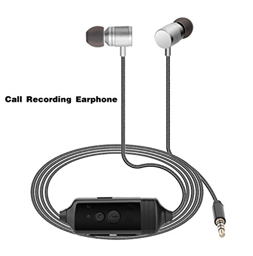 Fivoice Call Recording Earphone for iPhone Recording,Listen Music,Voice Recorder Pen,in-Ear Headphone,Need no Software, Voice Recorder or Jailbreak ()