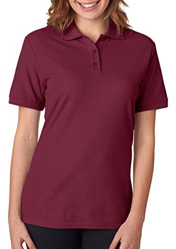 picture of Jerzees Easy Care Ladies' Pique Sport Shirt (Maroon) (S)